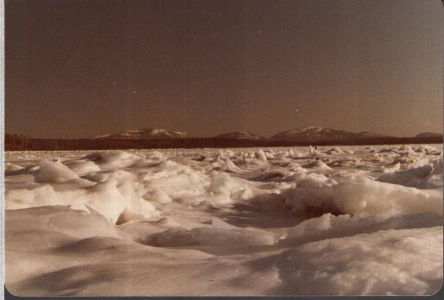 Cadillac Mountan Maine Across Frozen Bay