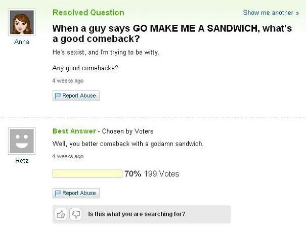 Funny Comeback