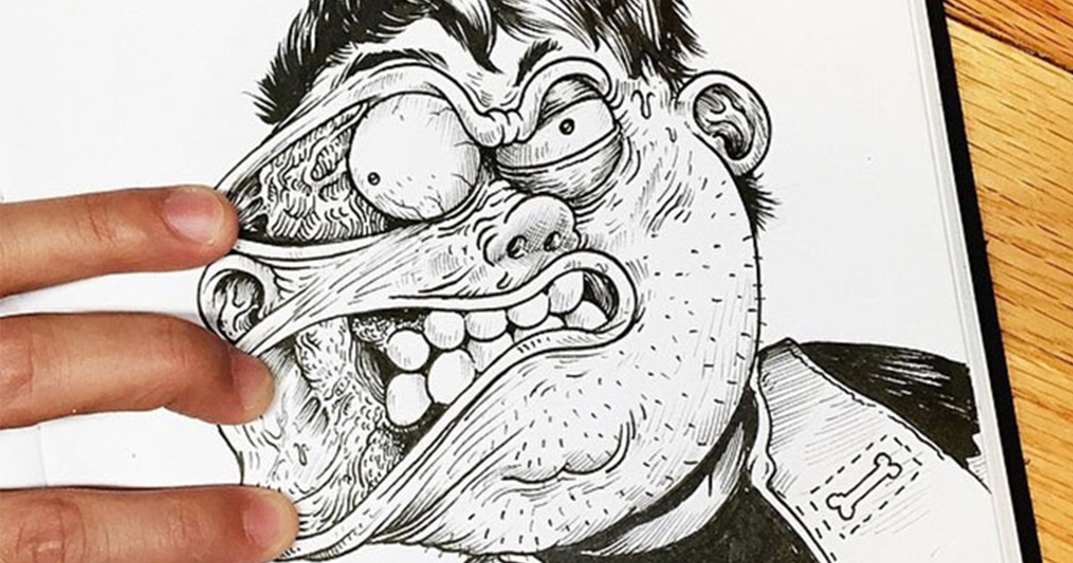 Funny Illustrations Fight With Their Own Creator | Bored Panda