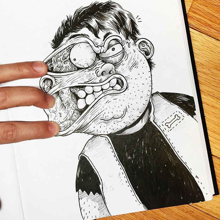 Funny Illustrations Fight With Their Own Creator