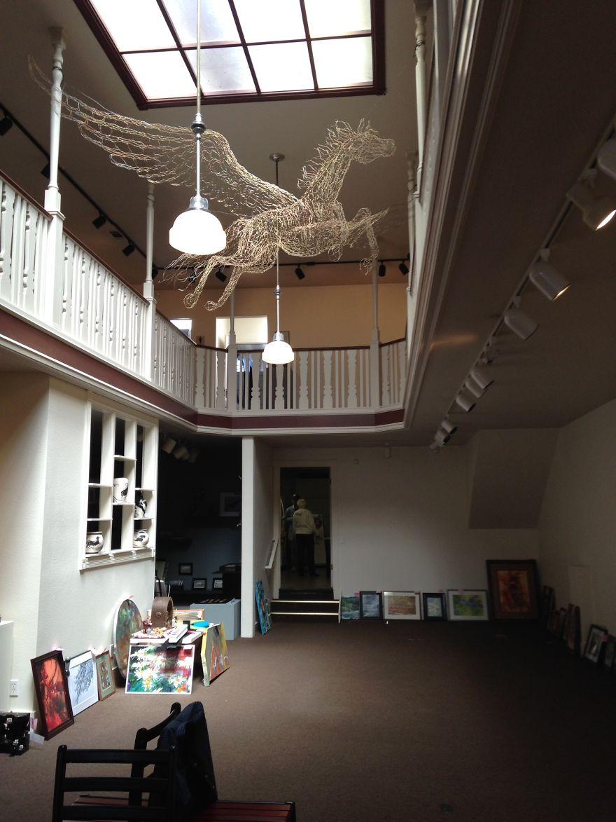Golden Pegasus With 17ft Wing Span By Elizabeth Berrien