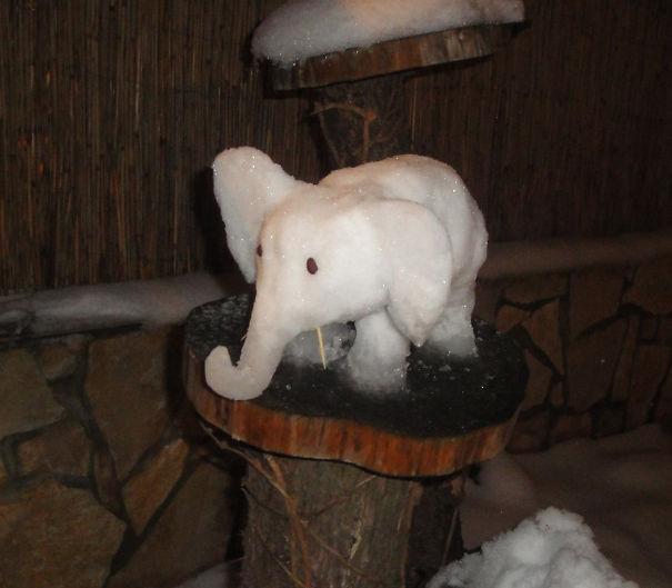 Low Budget Snow-elephant :)