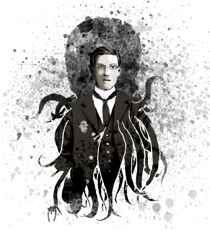 H.p. Lovecraft (authors Of Horror) I Made This On My Computer