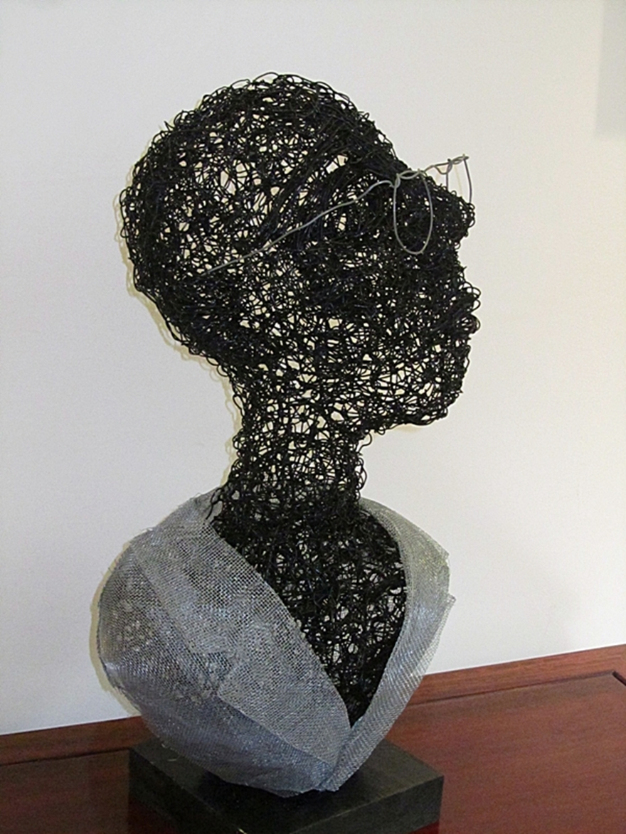 Metal Wire And Wire Mesh Sculpture. Dvora Sivan