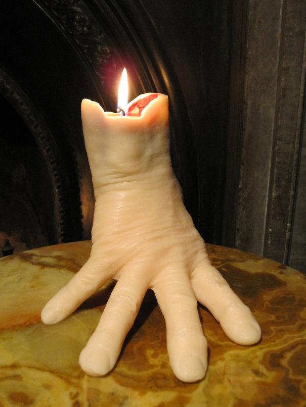 Creepy Hand Candle