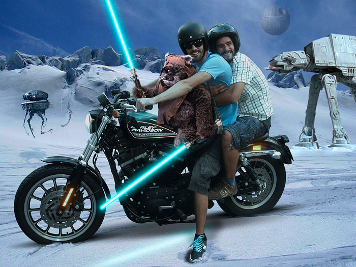 My Friend And I Traveling The World On A Harley Davidson