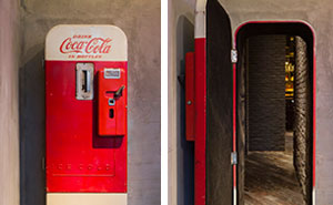 There's A Hidden Bar Behind This Vintage Coke Vending Machine in Shanghai