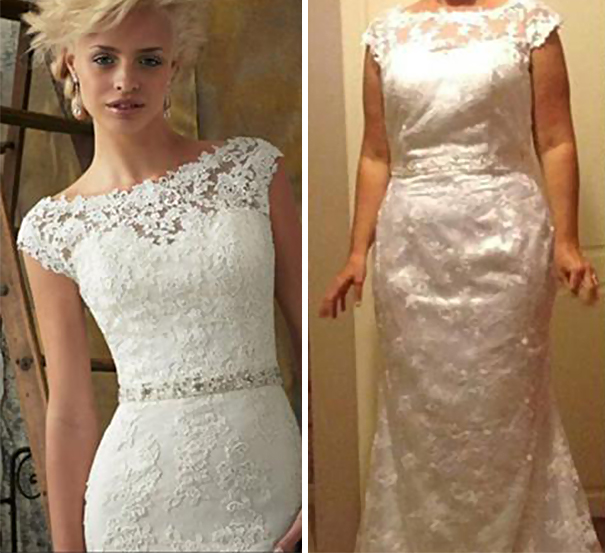 56d940a43a9 Ads Versus Reality  32 Disappointing Wedding Dresses