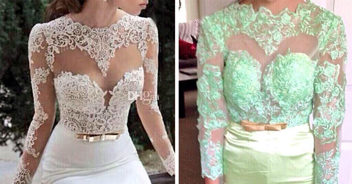 Ads versus reality 14 disappointing wedding dresses for Ebay china wedding dress