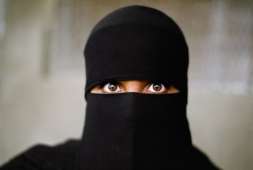 The Eyes That Speak - A Muslim Woman Wearing A Hijab