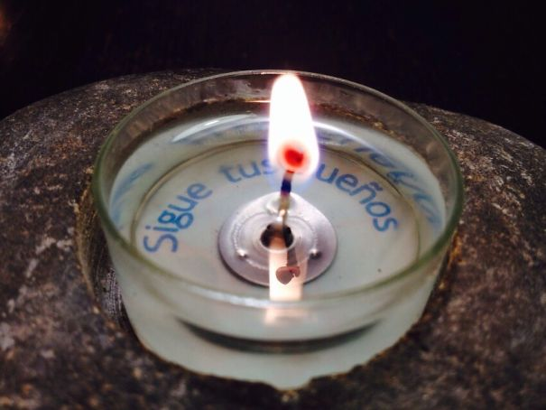 Candle With Message