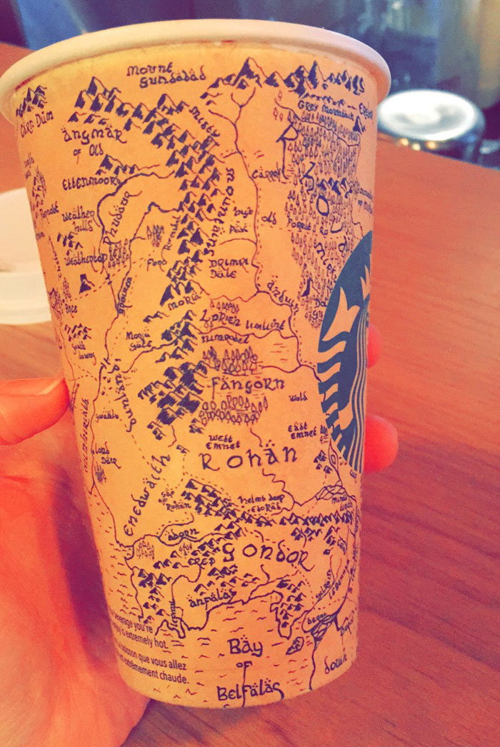 lord of the rings middle earth map starbucks
