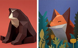 We Are A Couple Of Artists Who Create Lowpoly Animals From Paper
