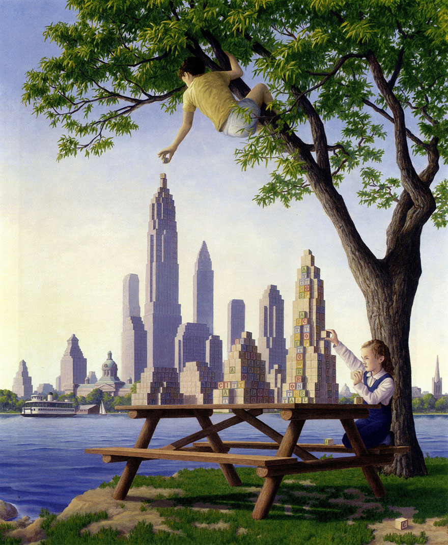 Magic Realism Paintings Rob Gonsalves
