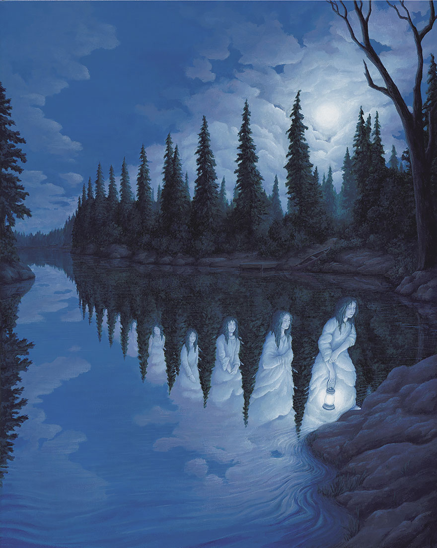 25 Mind-Twisting Optical Illusion Paintings By Rob Gonsalves ...