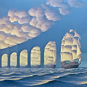 25 wunderschöne, illusionäre Gemälde von Rob Gonsalves, die deinen Verstand dahin schmelzen lassen