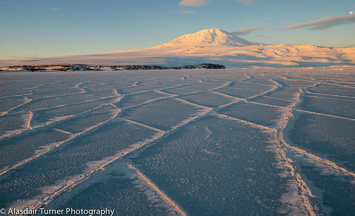 Cracks In The Sea Ice Of Mcmurdo Sound, In The Ross Sea, Antarctica.