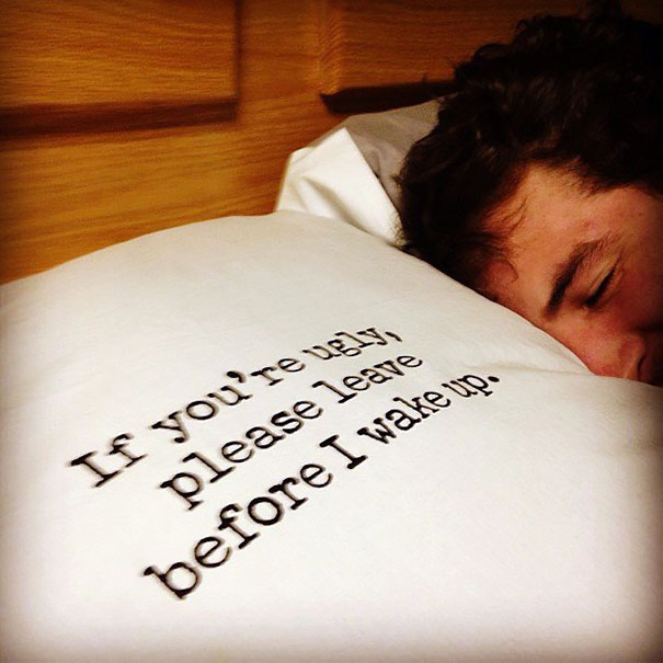 Please Leave Before I Wake Pillow Case