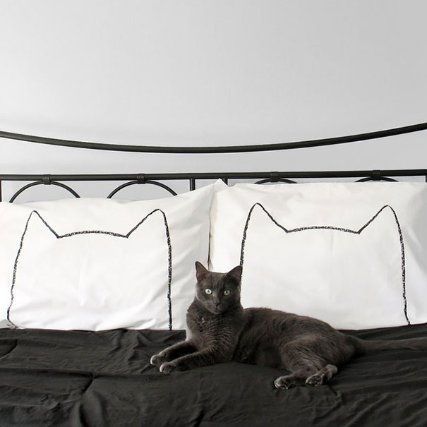 His And Hers Cat Nap Pillow Cases