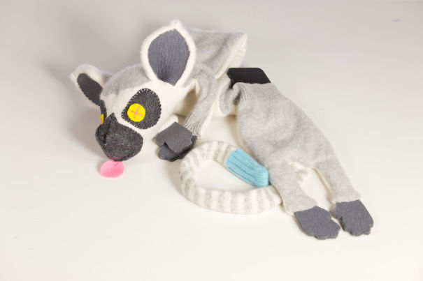 Mr.deadfish Upcycled Cashmere Lemur Scarf