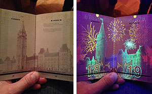 Canada's New Passport Reveals Hidden Images Under UV Light