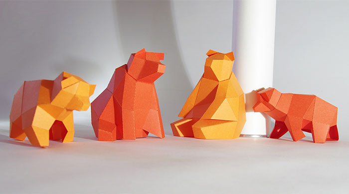 My Cute Little Bear Family In A DIY Papercraft Kit