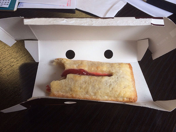 My Mcd's Pie Was Looking Like A Creep