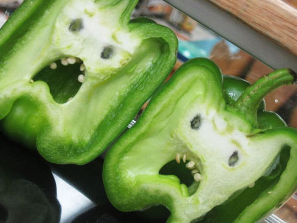 Bell Peppers Look Like Screaming Faces