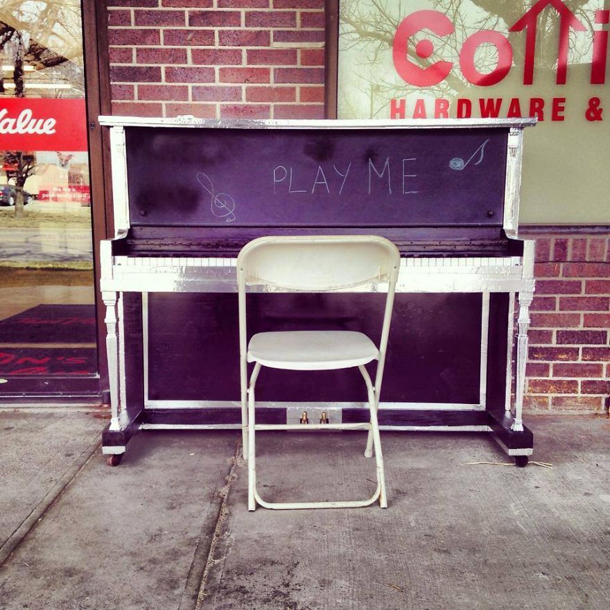 Cottin's Hardware & Rental Public Piano - Lawrence, Kansas Usa