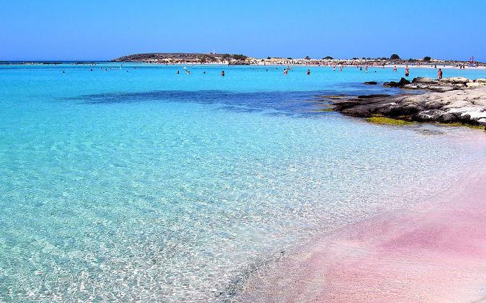 Elafonisi, Pink Sand Beach. Greece, Crete.