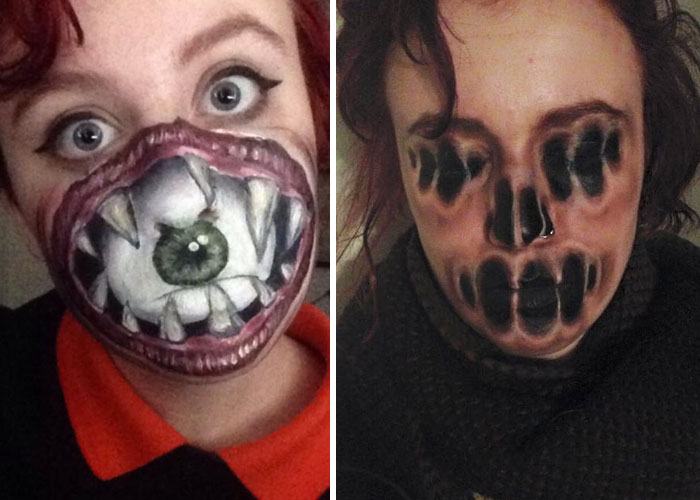 I Use Face Paint To Turn Myself Into Dark Or Strange Characters
