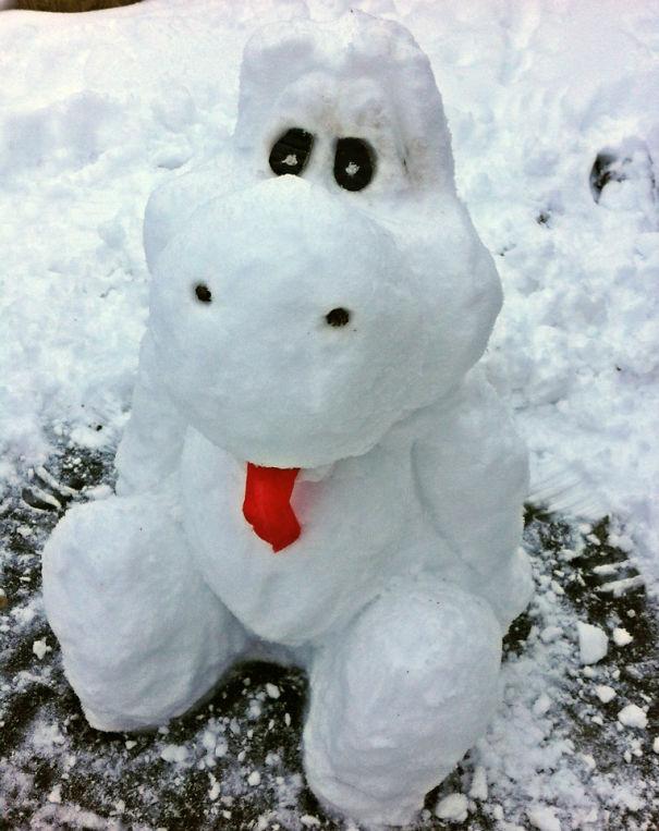 Yoshi Snow Sculpture