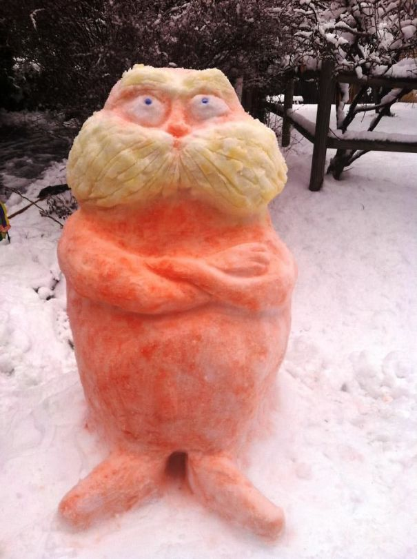 Lorax Snow Sculpture