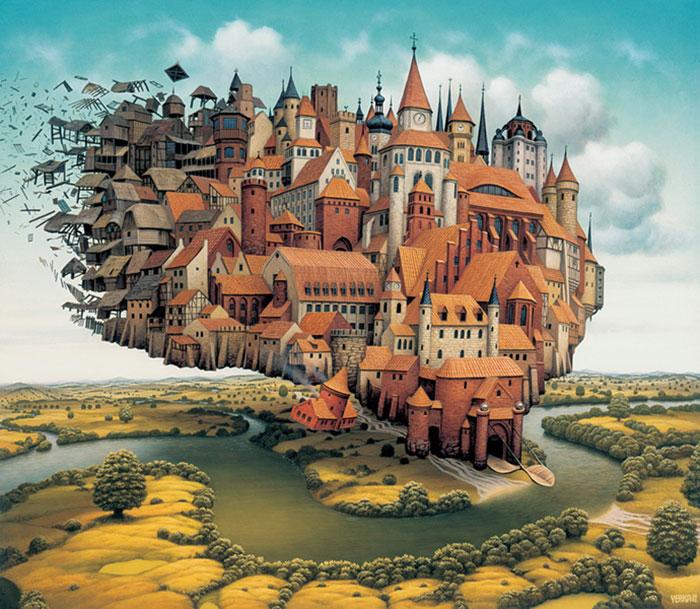 Polish Artist Creates Surreal Paintings Of Dream-Like Worlds