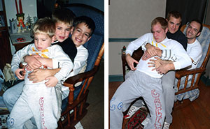 Three Brothers Recreate Their Weirdest Childhood Photos As A Gift For Their Mom