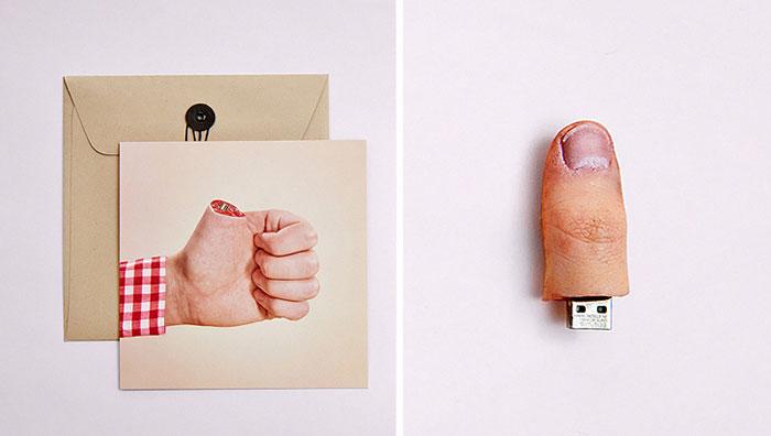 I Created Thumb-Shaped USB Drives To Promote My Photography Bussiness