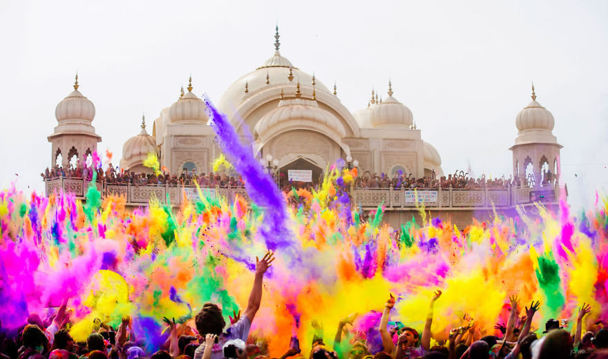 Festival de Holi en color (India)