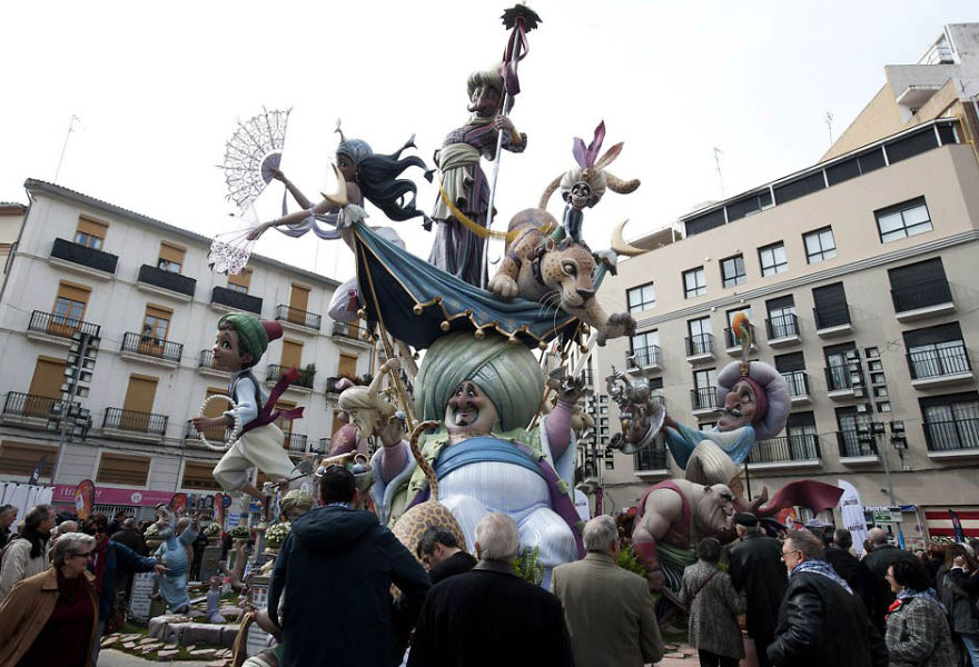 Las Fallas Festival Sculpture Burning (Spain)