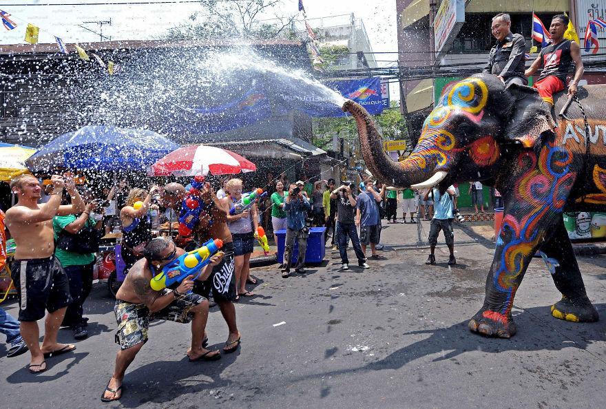 Fiesta del Agua de Songkran (Tailandia)