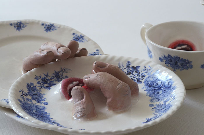 I Bring Ceramics To Life By Adding Fingers And Mouths To Them