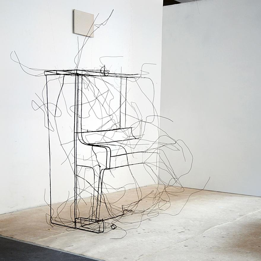 Piano Wire Sculpture
