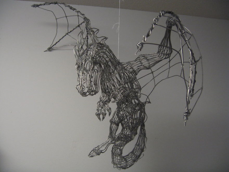 Dragon Wire Sculpture
