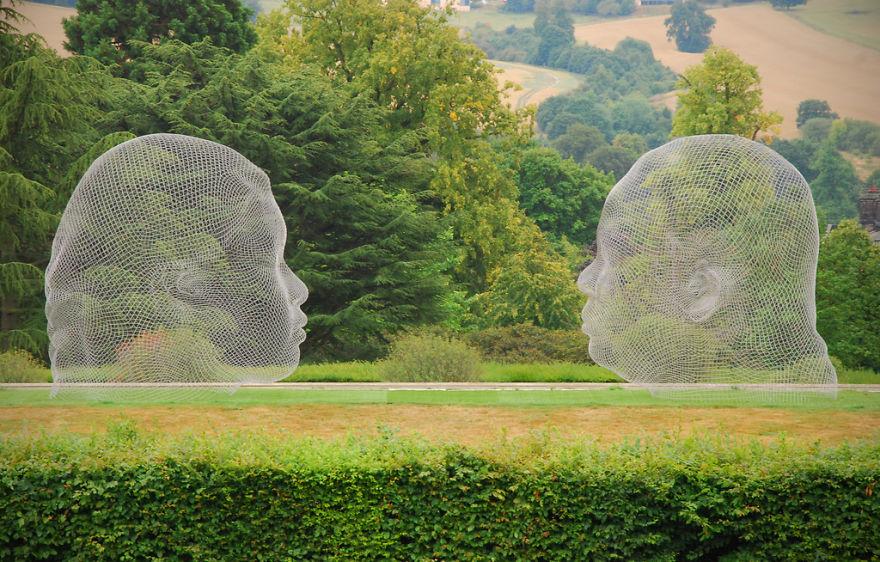 Talking Heads Wire Sculpture