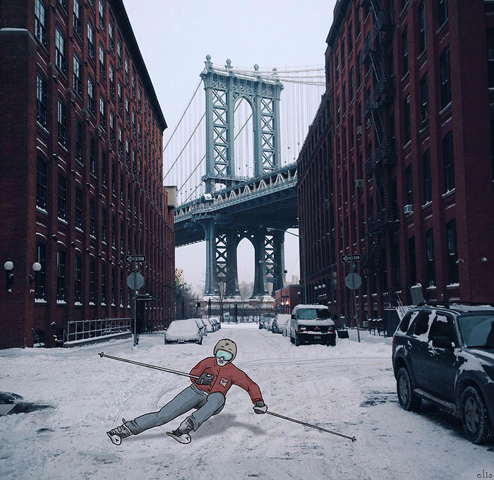Czech Animator Adds Her Witty Illustrations To Photos Of New York
