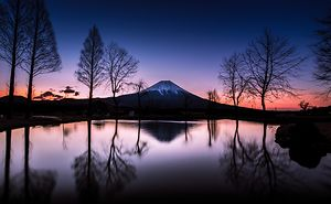 Beautiful Time  (mt Fuji)