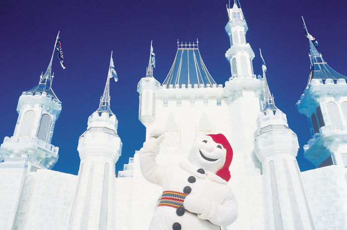 Bonhomme, Host And Mascot Of The Quebec Winter Festival (Canada)