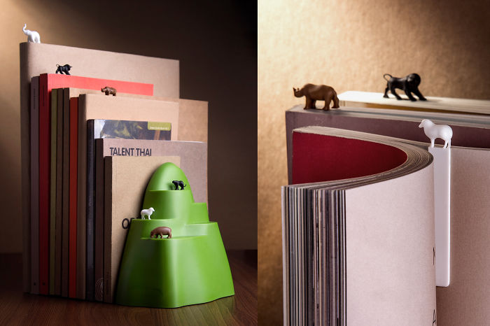 Qualy Book Mountain: Bookmarks & Bookend.