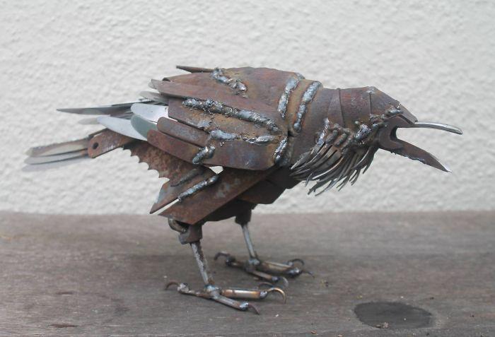 Scrap Metal Raven – Life Size