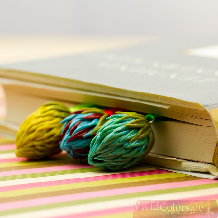Sweet Berry Bookmark In Blue & Green
