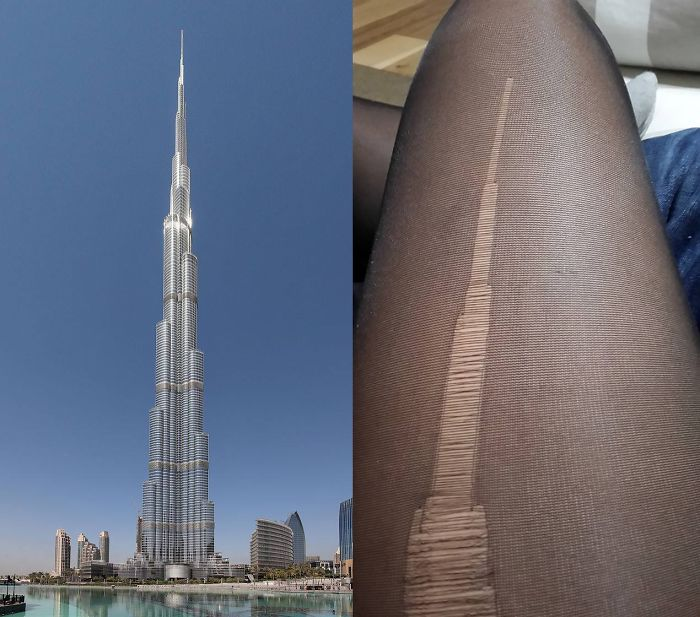 These Ripped Tights Look Like The Burj Khalifa In Dubai